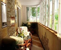 Дизайн места отдыха на балконе