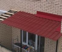 Крыша из черепицы для балкона