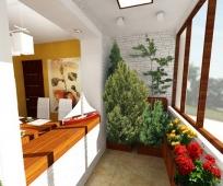 Зимний сад на присоединенном балконе