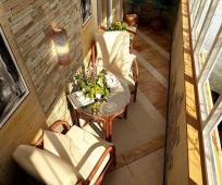Обустройство зоны отдыха на балконе