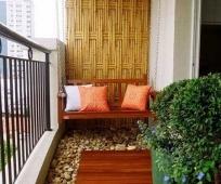 Оформление балкона в японском стиле