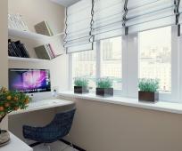Устройство кабинета на балконе
