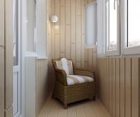 Балкон в стиле минимализма