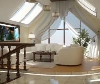 Окна на скатах крыши и фронтоне дома для освещения мансарды