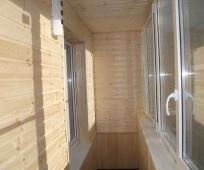 Внутренняя отделка балкона панелями МДФ
