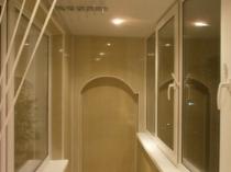 Точечное освещение балкона