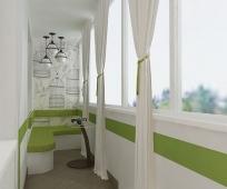 Встроенное в пол освещение балкона
