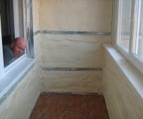 Утепление стен балкона