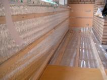 Утепленный пенофолом балкон