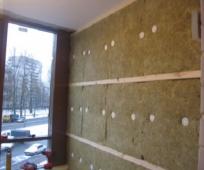 Утепление стен балкона минеральной ватой