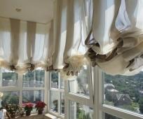 Дизайн балконных штор