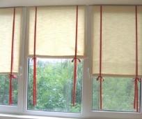 Рулонные шторы для окон на балконе