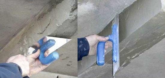 Заделка обширных повреждений плиты балкона
