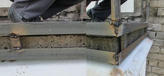 Нижняя обвязка плиты балкона