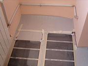 Теплый пол и батарея на балконе