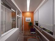 Встроенное освещение балкона