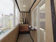 Натяжной потолок балкона