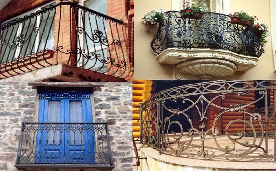 Балконы с коваными перилами