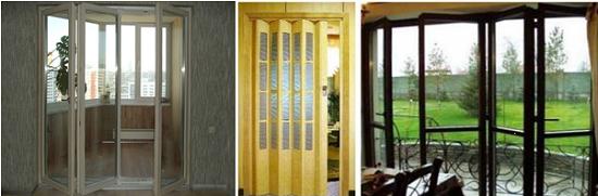 Установка двери-гармошки для выхода на балкон
