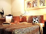 Африканские мотивы в оформлении спальни этно