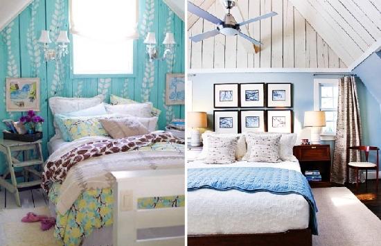 Варианты окраски стен для обустройства спальни на мансардном этаже