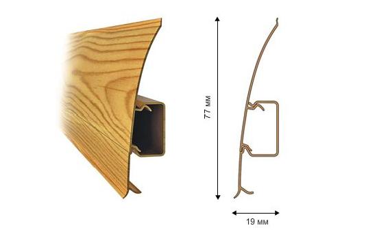 Профиль и размеры гибкого напольного плинтуса