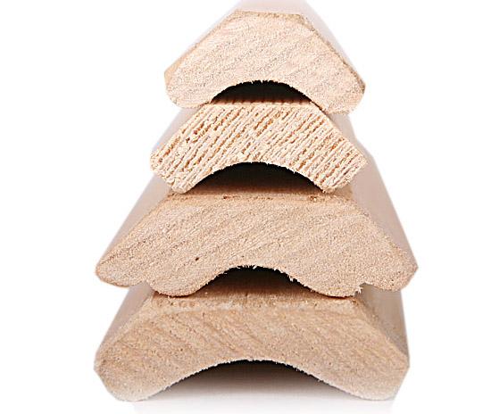 Размерный ряд деревянного плинтуса из осины