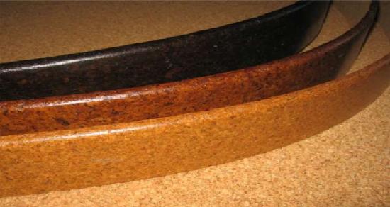 Легкий и гибкий напольный плинтус из пробки
