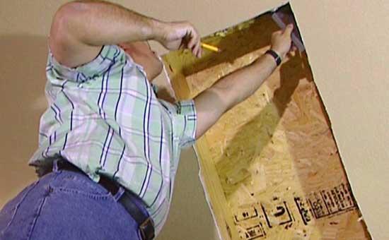 Подготовка места для врезки мансардного окна