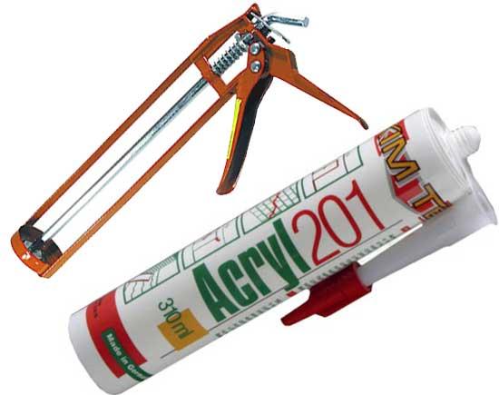 Акриловый герметик для установки полиуретанового плинтуса