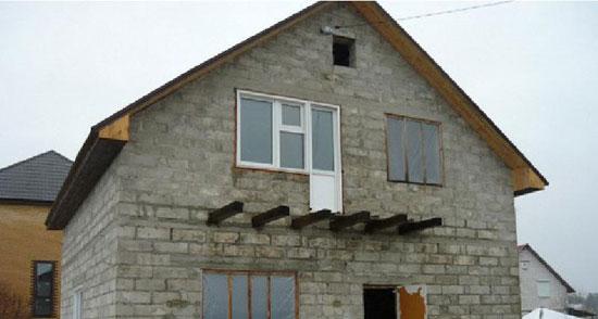 Строительство дома по проекту с двухуровневым мансардным этажом