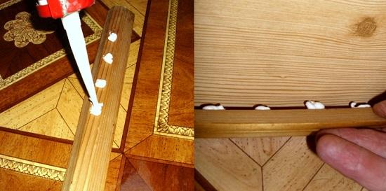 Установка деревянного напольного плинтуса на клей