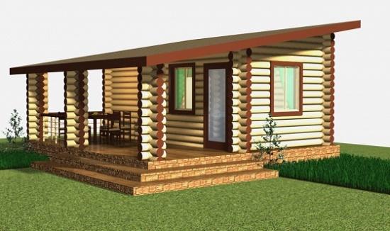 Проект дома с односкатной мансардной крышей